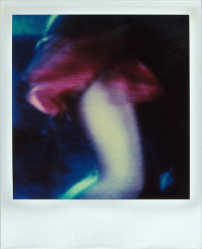 """Lady In Red"", Polaroid SX-70, Foto © Friedhelm Denkeler 1990"