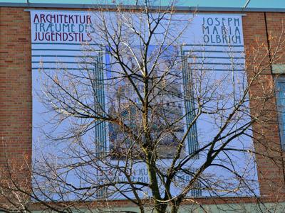 """""""Ausstellungsankündigung an der Kunstbibliothek"""", Foto © Friedhelm Denkeler 2011"""