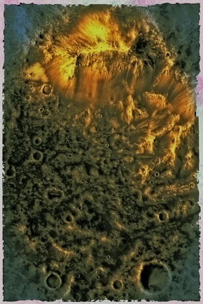 """Sofortbild vom  Mars"", Foto © Friedhelm Denkeler 2011 (Quelle: NASA/ University of Arizona)"