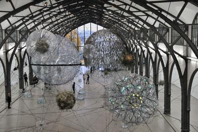 """""""Historische Halle mit Cloud Cities"""", Foto © Friedhelm Denkeler 2011"""