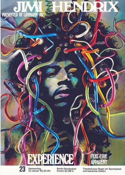 """""""Jimi Hendrix im Berliner Sportpalast – Plakat"""", Foto © Friedhelm Denkeler 2011"""