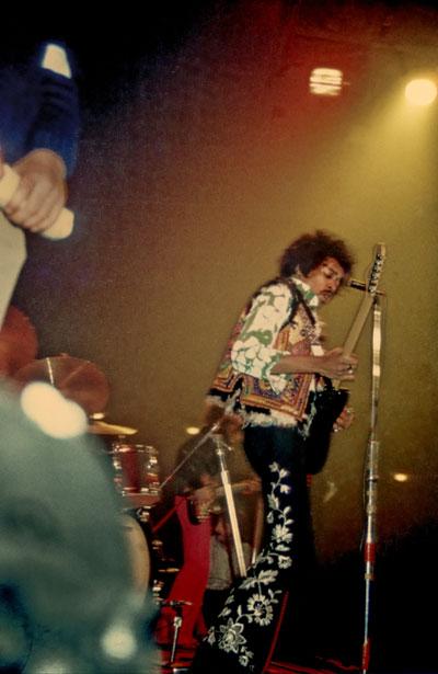 """""""Jimi Hendrix im Berliner Sportpalast"""", Foto © Friedhelm Denkeler 1969"""