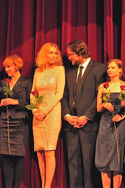 """Nina Hoss und Ronald Zehrfeld im Berlinale Palast"", Foto © Friedhelm Denkeler 2012"