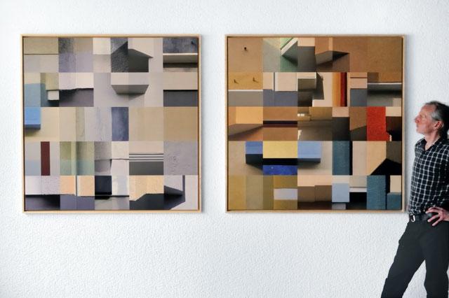 """""""Horst Hinder mit """"5x5"""", Nr. 7 und Nr. 8"""", Foto © Friedhelm Denkeler 2012"""