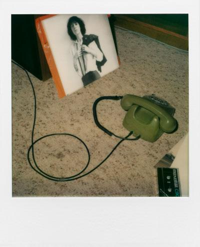 """Anruf von Patti"", Polaroid SX-70, Foto © Friedhelm Denkeler 1988"