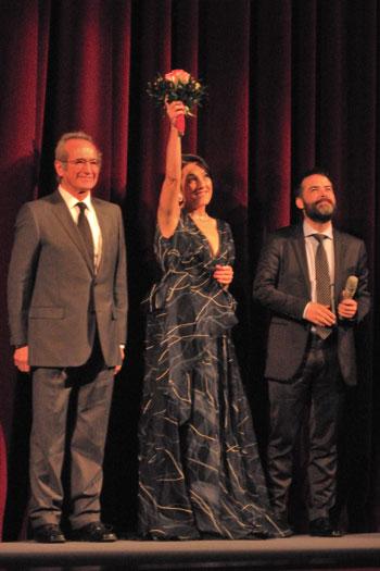 """Sergio Hernández, Paulina García und Sebastián Lelio"" (v.l.n.r.), Foto © Friedhelm Denkeler 2013"