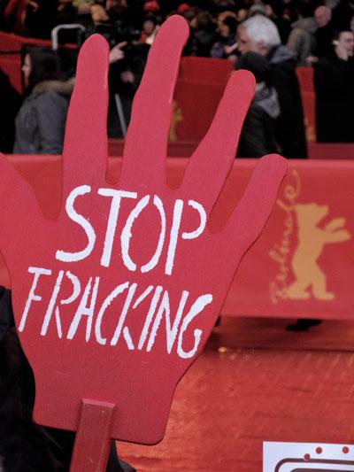 """""""Stop Fracking"""",  Foto © Friedhelm Denkeler  2013"""