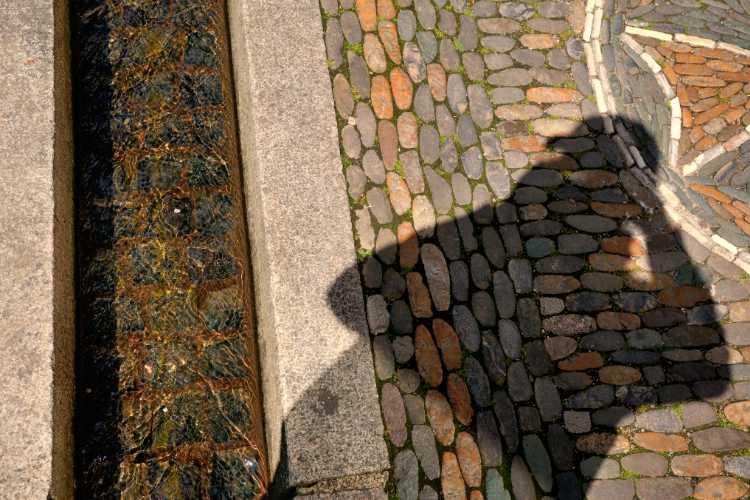 »Schatten am Bächle«, Freiburg, Foto © Friedhelm Denkeler 2014