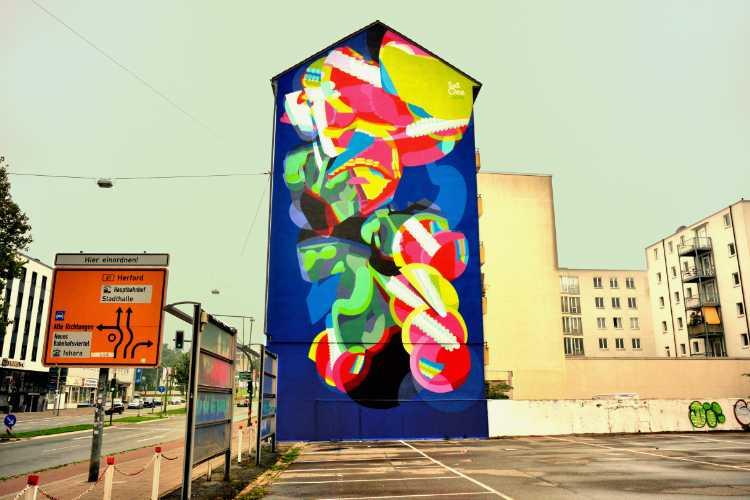 »Abstrakte Stadtverschönerung«, Bielefeld, Foto © Friedhelm Denkeler 2014