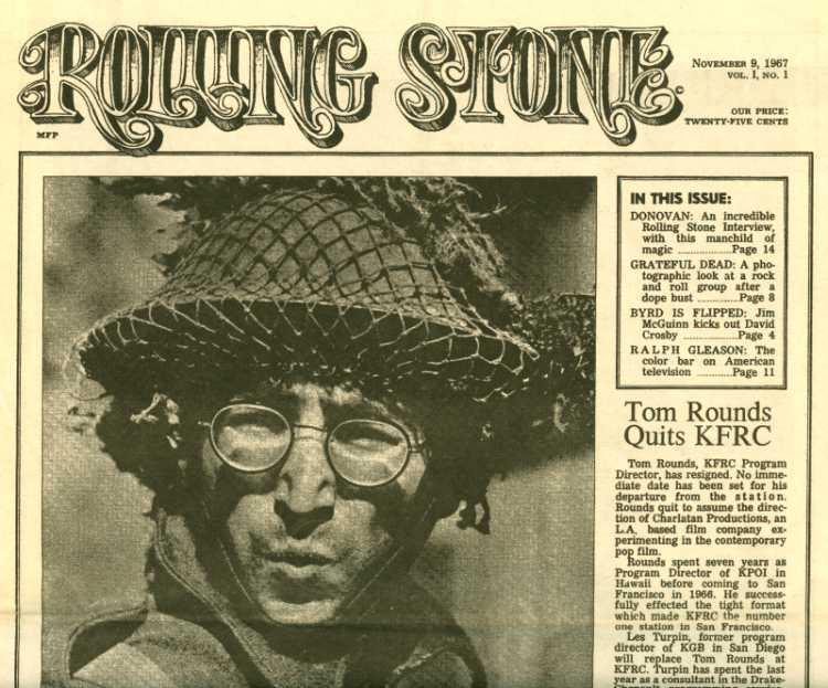 Zeitschrift »Rolling Stone«, 9. November 1967, Erstausgabe, Cover, Titelseite, John Lennon, Wie ich den Krieg gewann, Archiv © Friedhelm Denkeler
