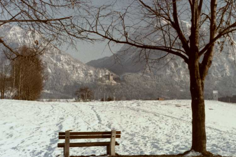 »Schneelandschaft – Zur Kur im Allgäu«, Foto © Friedhelm Denkeler 1963