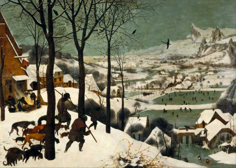 Pieter Bruegel der Ältere: »Die Jäger im Schnee« (1556), Quelle: Wikipedia