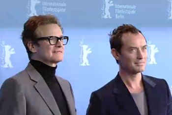 """""""Colin Firth und Jude Law auf der Berlinale2016"""", Foto © Friedhelm Denkeler 2016"""