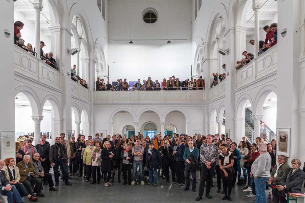 Eröffnung der Ausstellung »Bildwechsel – Fotografie nach der Werkstatt für Photographie«, Kunstquartier Bethanien, Berlin-Kreuzberg, Foto © Uwe Schumacher 2016