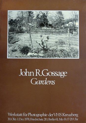 """Plakat zur Ausstellung """"John R. Gossage – Gardens""""  in der Werkstatt für Photographie, 30.10. bis 01.12.1978"""
