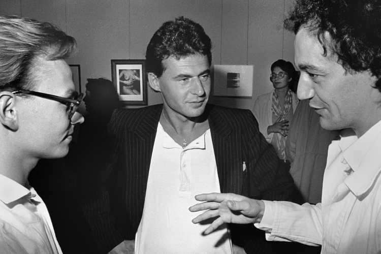 Vernissage »Sammlung Tillmann und Vollmer – Meisterwerke der Fotokunst«, Werkstatt für Photographie,  20.09.1985 (Gosbert Adler, Hermann Stamm, Joachim Schmid)