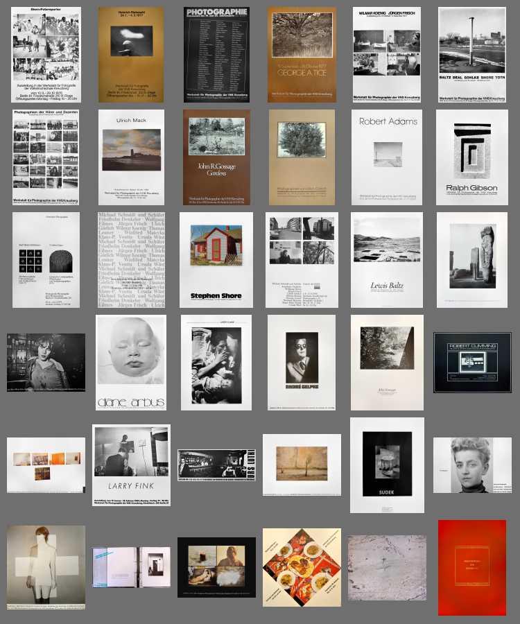 Indexprint »Plakate der Werkstatt für Photographie«, 1976 bis 1985, Alle Fotos © Friedhelm Denkeler