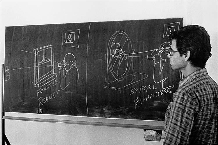 »Szenen aus der Werkstatt für Photographie«: »Realist und Romantiker«, Workshop mit Robert Cumming in der Werkstatt für Photographie, 25. bis 26.09.1982 (Robert Cumming), Foto © Friedhelm Denkeler 1982