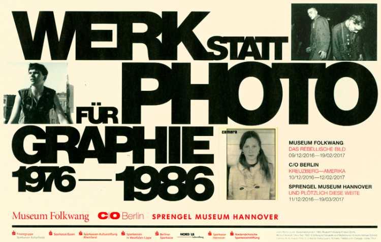 Zur Ausstellung »Werkstatt für Photograhie 1976-1986» bei C/O Berlin: Anzeige im »Art-magazin« 12/2016