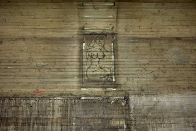 »Kunst am Bau«, U-Bahnhof Schloßstraße während der Renovierung, Foto © Friedhelm Denkeler 2017