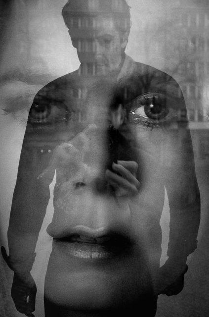 """""""Selbst auf drei Ebenen"""" (Plakat zum Film """"Nocturnal Animals"""" von Tom Ford),  aus der Serie """"Schatten und Spiegel"""", Foto © Friedhelm Denkeler 2017"""