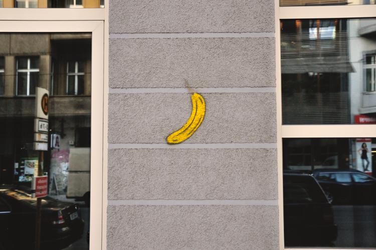 »The Bananensprayer was here«, Thomas Baumgärtel, Berlin, Foto © Friedhelm Denkeler 2013