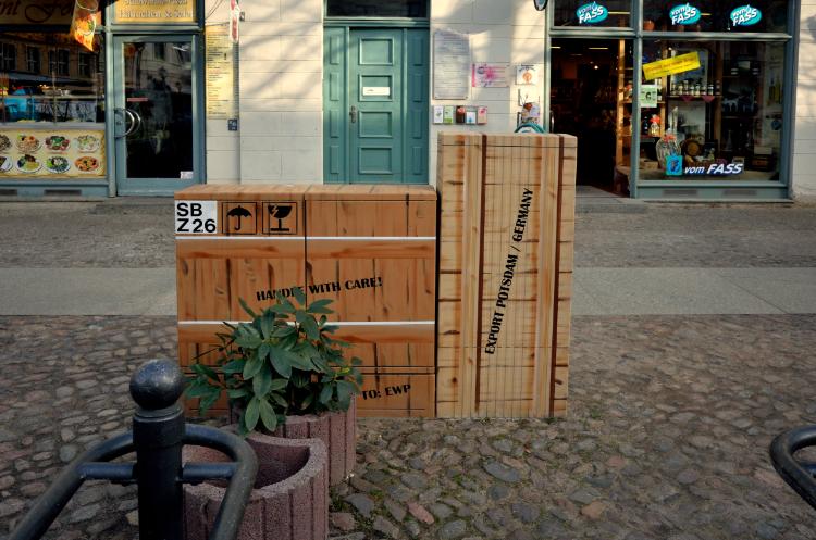 »Camouflage«, Stadtverschönerung in Potsdam, Foto © Friedhelm Denkeler 2014