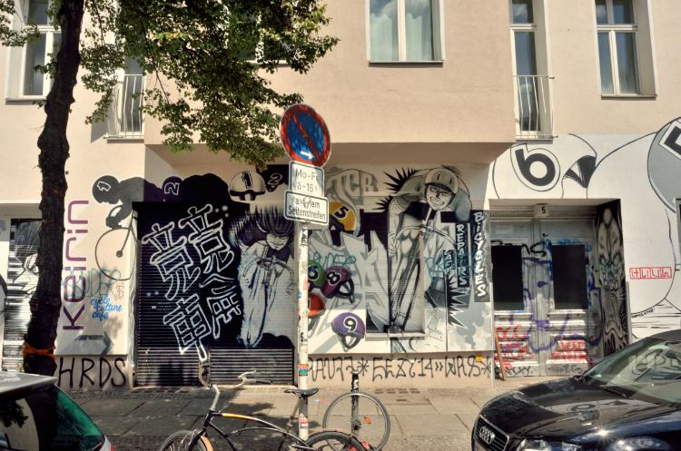 »Die Kampfradler von der Oberbaumstraße«, Foto © Friedhelm Denkeler 2014