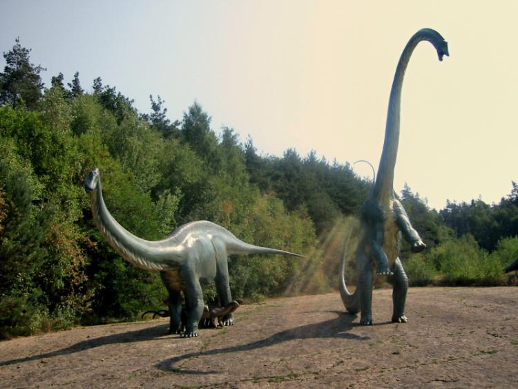 »Dino-Familie am Sonntag«, Dinosaurier-Park, Münchehagen,, Foto © Friedhelm Denkeler 2003»Dino-Familie am Sonntag«, Dinosaurier-Park, Münchehagen,, Foto © Friedhelm Denkeler 2003