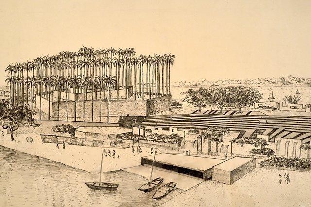"""""""Oleta River State Recreation Area, Miami, Florida"""", 1982, Konzept (Ausschnitt) von Roberto Burle Marx, Kunsthalle by Deutsche Bank, Berlin, Foto © Friedhelm Denkeler 2017"""