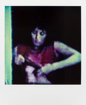 """Aus der Serie """"Am Fenster"""", Foto © Friedhelm Denkeler 1987"""
