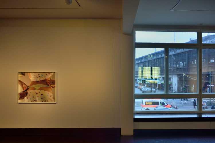 »Schöne Aussicht«, Torbjørn Rødland »The Cut«, 2016, Ausstellung »Back in Touch« bei C/O Berlin, 2018, Foto © Friedhelm Denkeler 2018
