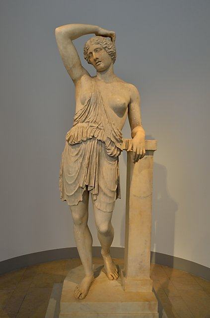 """""""Verwundete Amazone des Polyklet von Argos"""", Rom, Quirinal, Marmor, römisch, nach Original 430 v.Chr. (erworben 1869), Foto © Friedhelm Denkeler 2018"""