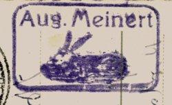 »Stempel August Meinert, Vorsitzender des  Vereins der Kaninchenzüchter«, Archiv © Friedhelm Denkeler 1956