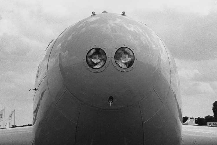 »Gesicht eines Düsenflliegers«, Foto © Friedhelm Denkeler 1998