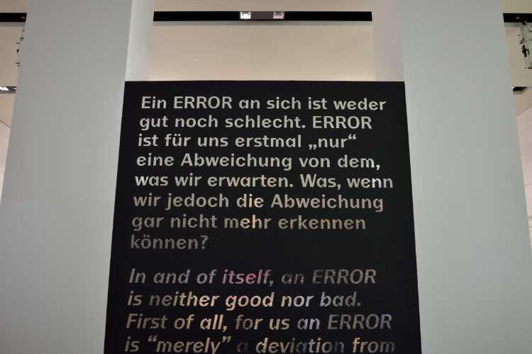 »Ein ERROR an sich ist weder gut noch schlecht. Ein ERROR ist erstmal nur eine Abweichung von dem, was wir erwarten«, Foto © Friedhelm Denkeler 2019