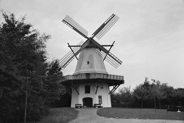 »Windmühle Tonnenheide«, Mühle Nr. 21 (Galerie-Holländer), Mindener Straße 185, 32369 Rahden-Tonnenheide, Foto © Friedhelm Denkeler 2003