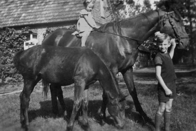 »Ziemlich hoch, so ein Pferd!«, 1939, © Archiv Friedhelm Denkeler