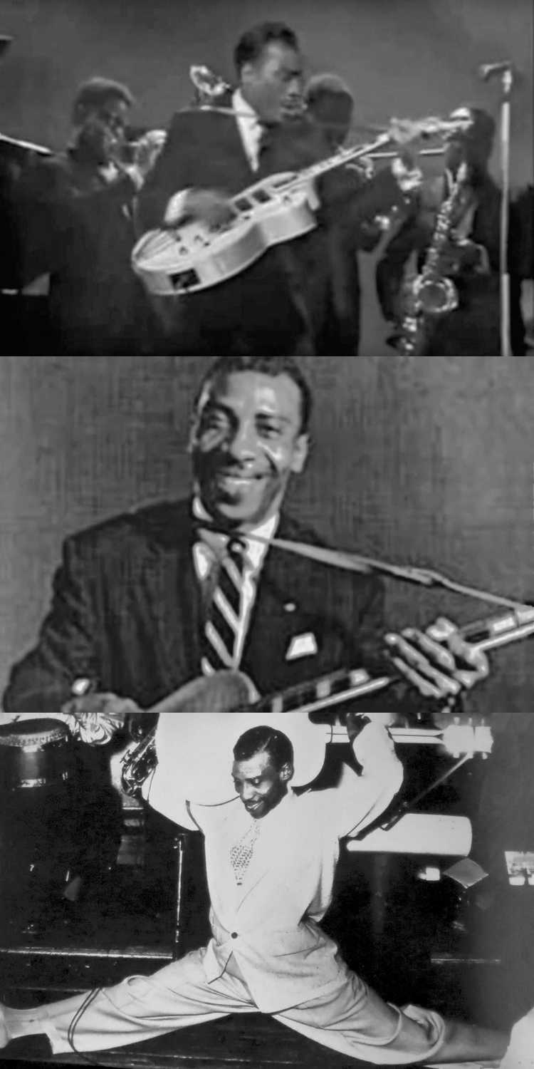 1947 – T-Bone Walker: »Bobby Sox Blues«, Foto & Collage © Friedhelm Denkeler