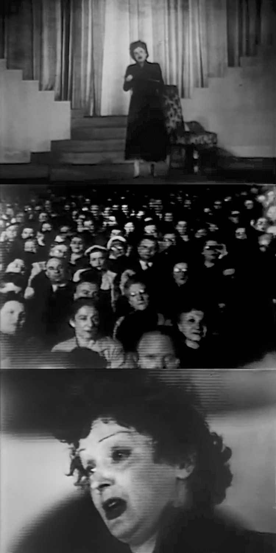 1948 – Edith Piaf: »La Vie En Rose«, Fotos & Collage © Friedhelm Denkeler