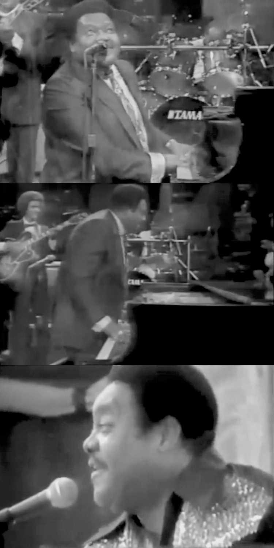 1949 – Fats Domino: »The Fat Man«, Fotos & Collage © Friedhelm Denkeler