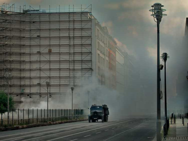 »Einsatz in der Leipziger Straße«, Foto © Friedhelm Denkeler 2007