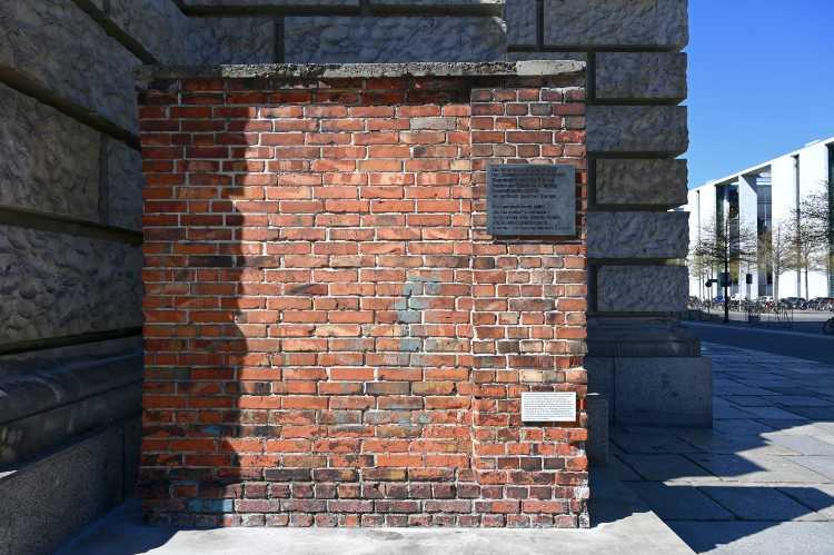 »Ein polnische Mauer im Regierungsviertel«, Foto © Friedhelm Denkeler 2020