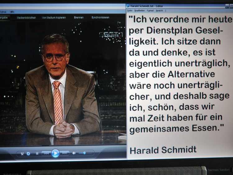 »Ich verordne mir heute per Dienstplan Geselligkeit«, Harald Schmidt, Foto © Friedhelm Denkeler 2009