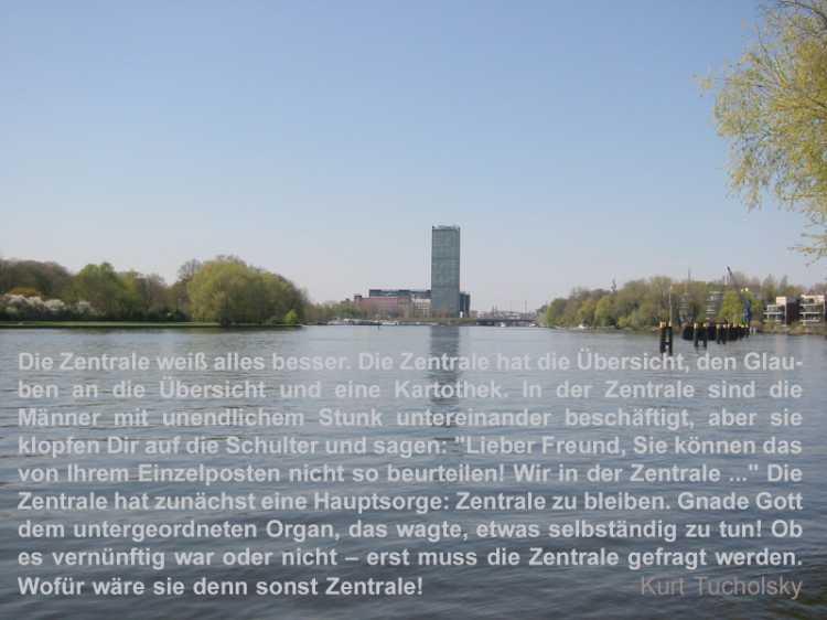 »Die Zentrale weiß alles besser«, Kurt Tucholsky, Foto/Grafik © Friedhelm Denkeler 2008