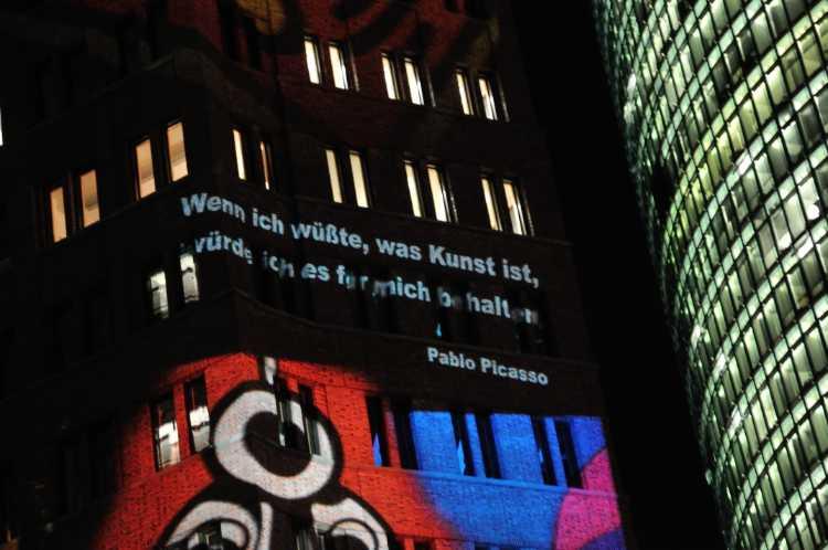 »Wenn ist wüßte, was Kunst ist, würde ich es für mich behalten«, Pablo Picasso, Foto/Grafik © Friedhelm Denkeler 2013