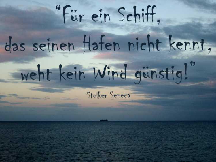 »Für ein Schiff, das seinen Hafen nicht kennt, weht kein Wind günstig!«, Stoiker Seneca, Foto/Grafik © Friedhelm Denkeler 2004