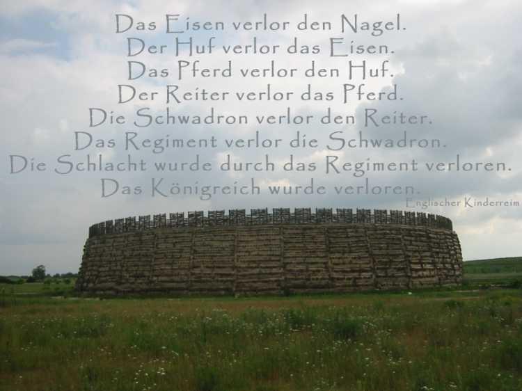 »Das Eisen verlor den Nagel …«, Foto/Grafik © Friedhelm Denkeler 2004